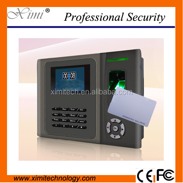 XM200 fingerprint time attendance Built-in Li-battery 7.4V 2000mA time recording communication with TCP/IP, RE232/485,USB