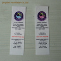 Custom fabric printed satin care labels for clothing satin