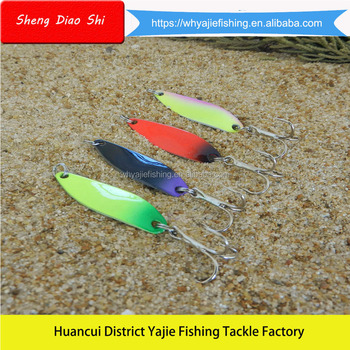 Free Samples !!! Yajie New Design Colorful Painting Metal Blades Fishing Lures For Bass