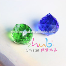 Factory wholesales large faceted crystal glass ball for chandelier lamp decoration