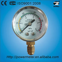 1.5'' bottom type chromeplated case tank gauge manometer