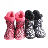 New arrival kids fluffy anti-slip snow boots