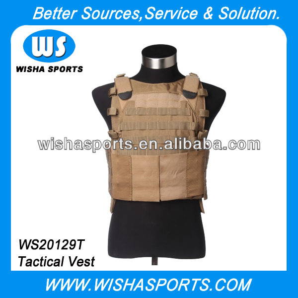 Adjustable Durable abu Army Military Tactical Combat Plate Carrier Vest for Airsoft Paintball Game