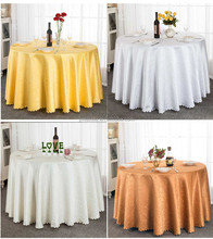 wholesale quality vinyl fancy banquet jacquard damask table cloth for wedding