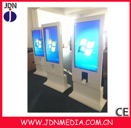 New Design 43inchTouch Screen Adverting Kiosk with Coupon Printer / Thermal Printer Advertisement Machine