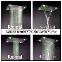 Easy install ceiling color flash led rainfall waterfall shower HM-BD012-1