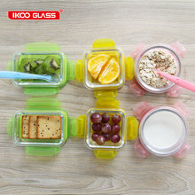 IKOO GLASS 14pcs high borosilicate glass baby food container storage set