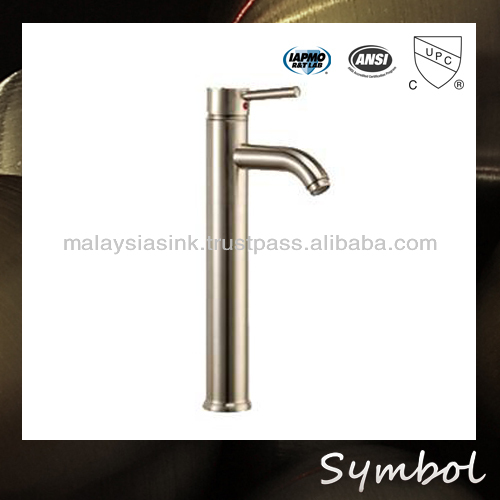 Cold and Hot Water Cupc Polished brass faucet