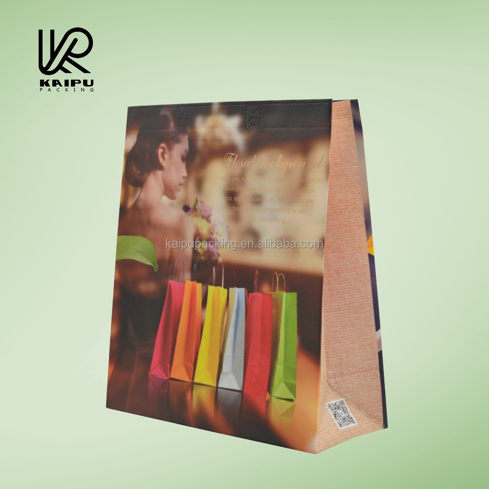 Wholesale reusable cheap shopping bag made of pp laminated non woven