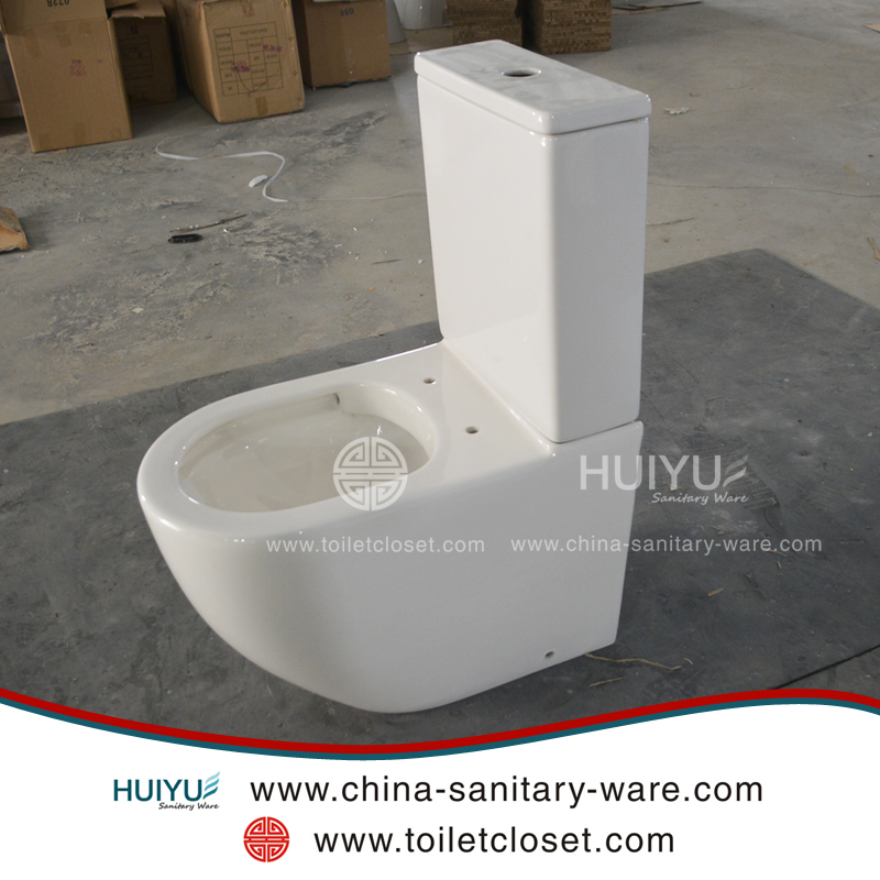Cheap sanitary wares floor mounted two pieces ceramic bathroom toilet sanitary ware
