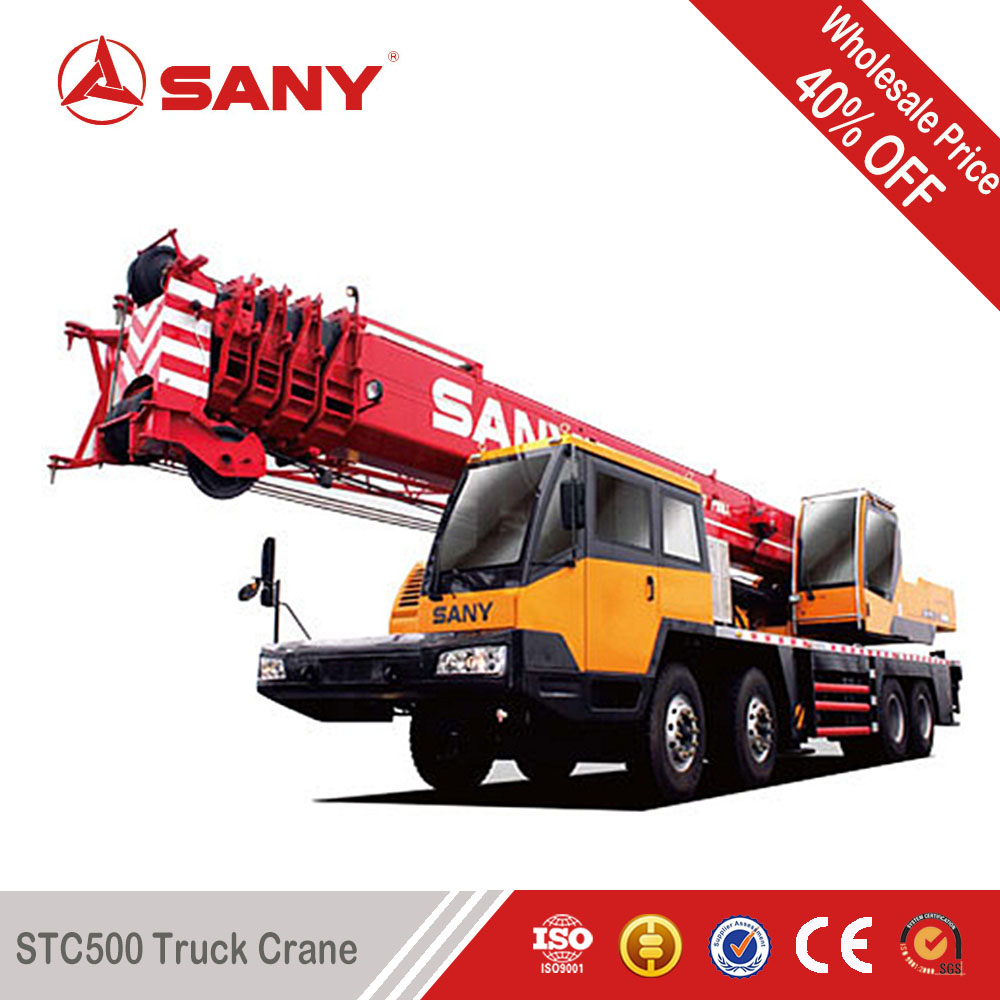 SANY QY50 50 Tons Mobile Crane for Sale of Used Condition Mounted Crane Truck of 2011 Year with EURO III