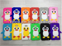 3D Cute Penguin Soft Silicone Case Cover Skin For Samsung Galaxy S2 SII i9100