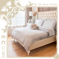 Hotel white bedding Fillet decoration 100% polyester 4 piece hotel bed