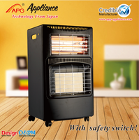 Infrared Gas and Electric Heater, movable square gas heater with ODS and anti-tilt switch