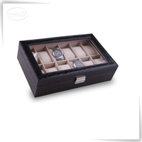 reasonable pu leather custom-made dive wooden box for watch