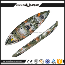 Coolkayak single fishing clear ocean kayak for sale rowing boat wholesale