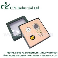 OEM customized golf accessory set with gift box for golf lover
