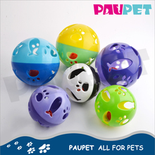 Fine appearance fashion colorful cats pet plastic toy ball with bell inside