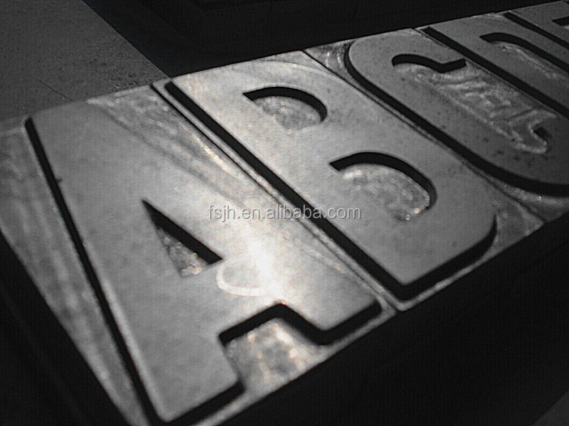 Steel Embossed English Letters Mould to Make Car License Plate