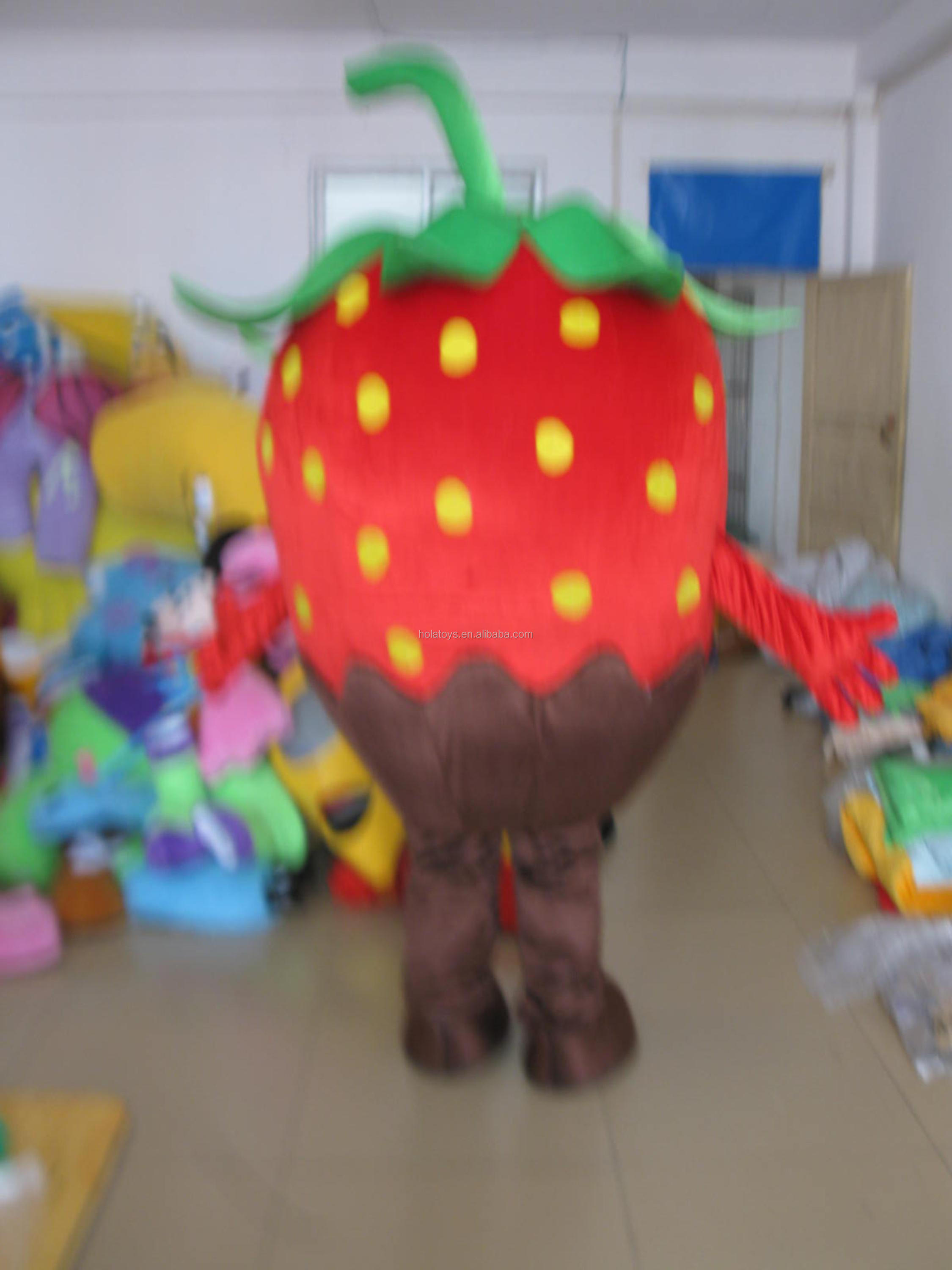 Hola strawberry mascot costume/food mascot costume for sale