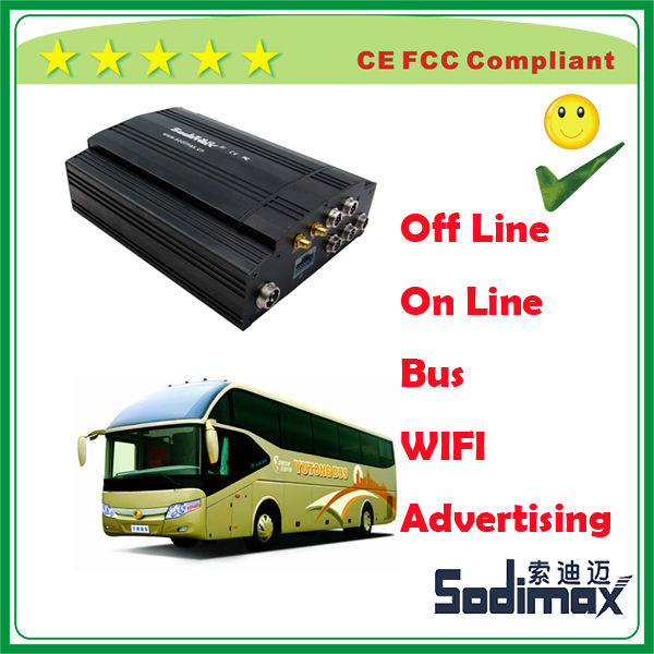Bus free wifi hot spot system for mobile phone in passenger bus