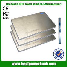HC-K3 Super ultra slim 2000mah business gift power bank with usb charger