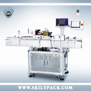 Machinery Factory Automatic Sewing Thread Roll Wrap Labeling Machine