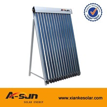 solar thermal horizontal direct flow vacuum tube solar collector