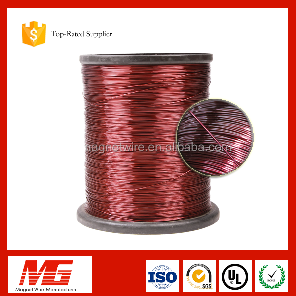 18 AWG 42 AWG Gauge Polyesterimide magnet copper clad aluminum enameled wire for motors