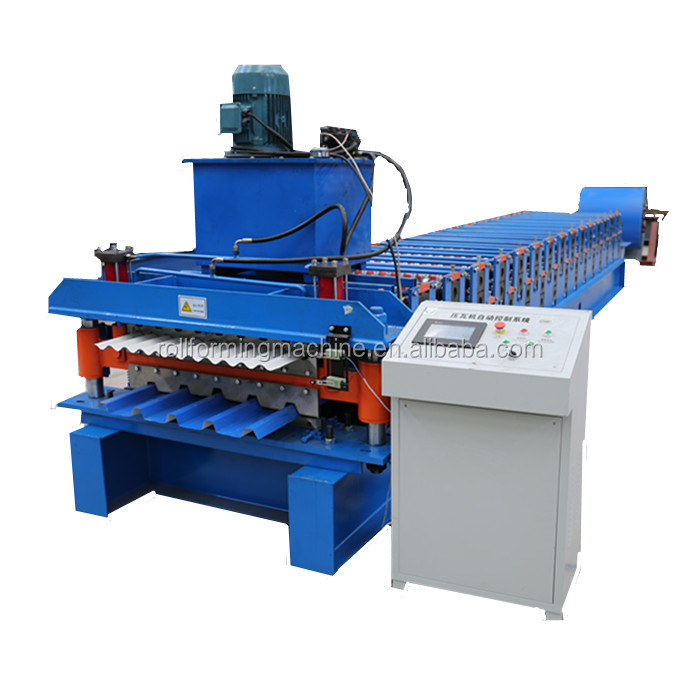 Metal Roofing Sheet Corrugating Iron Sheet Roll Forming Making Machine , Cold Galvanizing Line