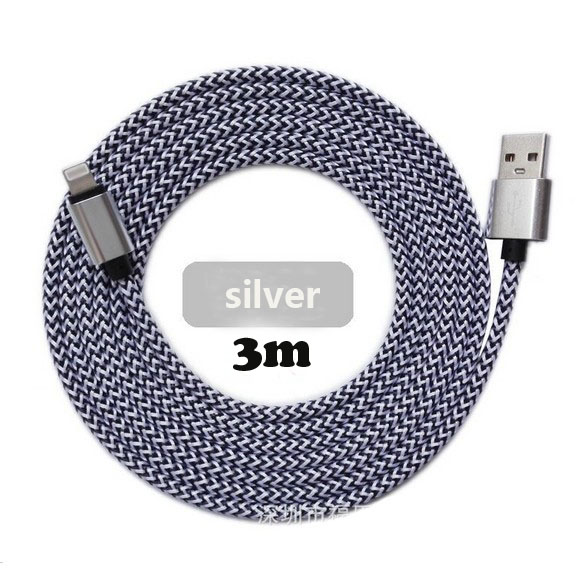 For Iphone 3m nylon braid usb 2.0 data cable