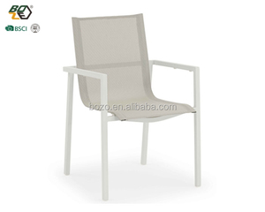 Outdoor metal frame aluminum sling fabric garden dining chair
