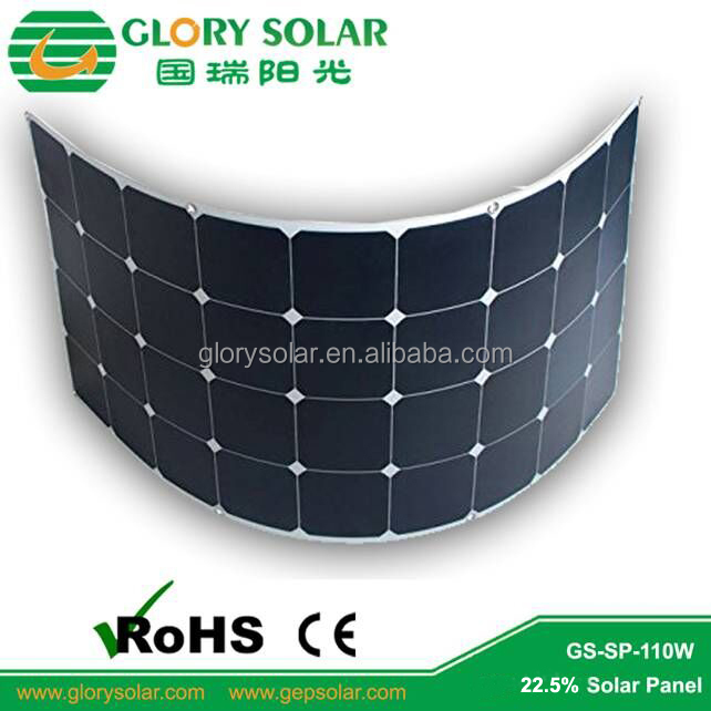 12 Years Solar Panel Custom Factory Motorhome 110 Watt Solar Panel