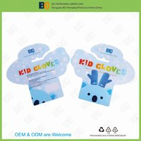 food grade cartoon design pp plastic header card for kids gloves packaging