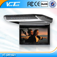 "10.1"" car flip down dvd with wireless game"