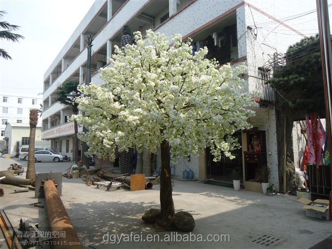 landscape trees decoration fiberglass material plastic flowers artificial cherry blossom trees
