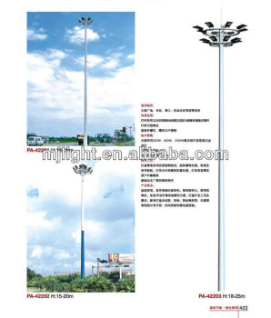 15m 20m 30m LED High Mast Lighting Pole