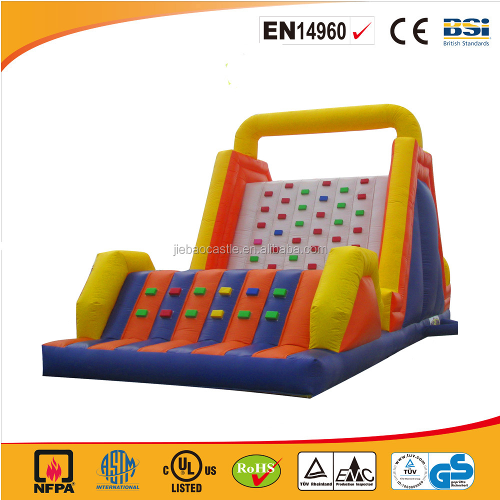 Colorful best selling inflatable climbing wall bouncer/inflatable dry slide for adults and kids