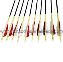March Sports recurve bow compound bow ID 4.2 6.2 offset fletching Carbon Arrows