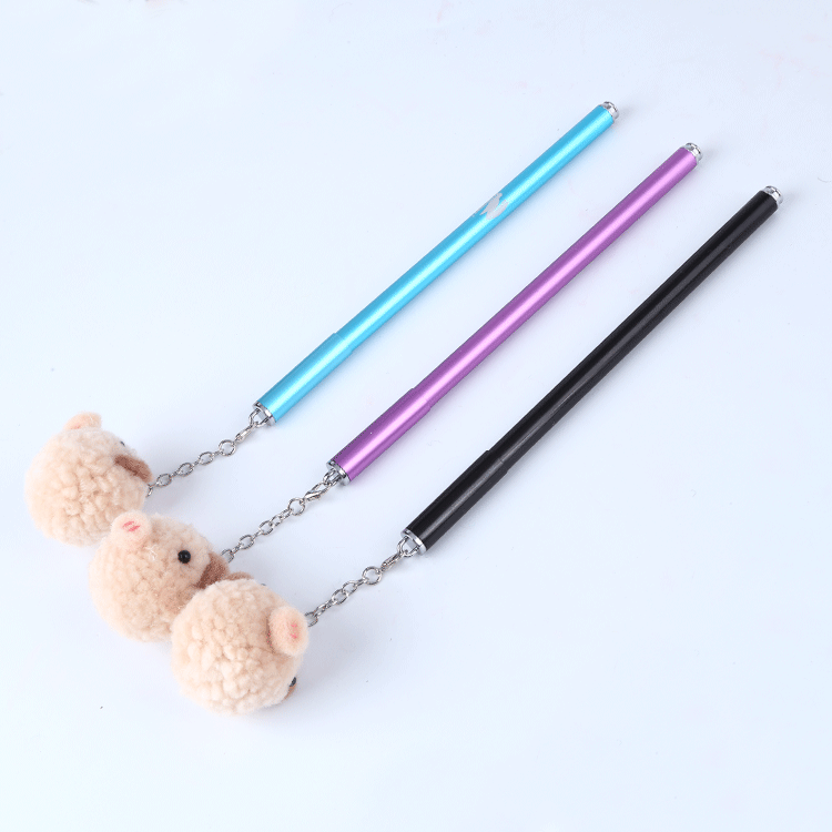 Good quality wholesale matt black chromed parts retractable ballpoint pen