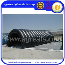 Larger black inflatable marquee tent arch for temporary warehouse S1031