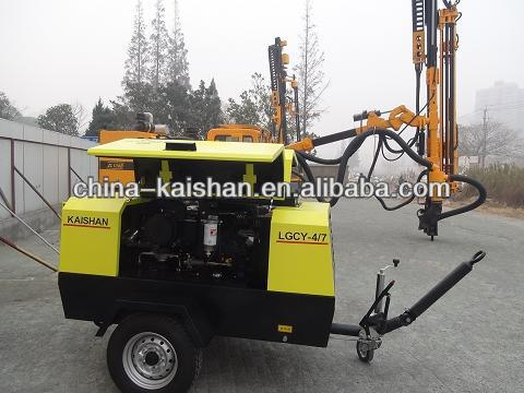 Kaishan brand LGCY-4/7 Portable diesel mobile air compressor