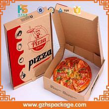 Guangzhou wholesale cheap custom printed micro-flute die cut corrugated pizza boxes