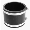 Flexible pump rubber pipe coupling