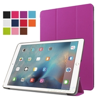 9.7 Inch standing leather flip cover tablet genuine leather case for ipad pro