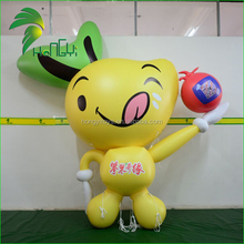 Realistic Advertising Inflatable Fruit Shape Cartoon Balloon / PVC Display Giant Inflatable Promotion Fruit Apple Model