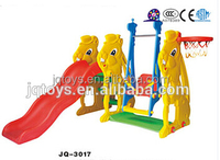 2016 Childrens cheap plastic swing and slide set for sales
