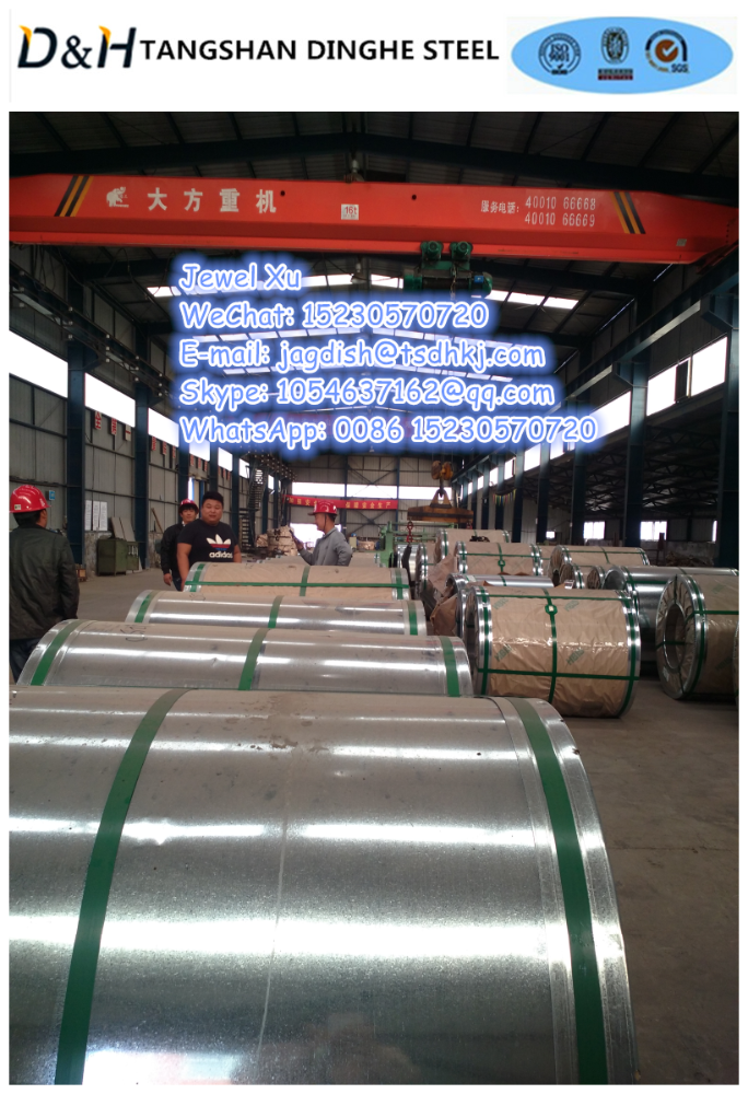 Tangshan Dinghe zinc coating g30 g60 g90 galvanized coils and sheet