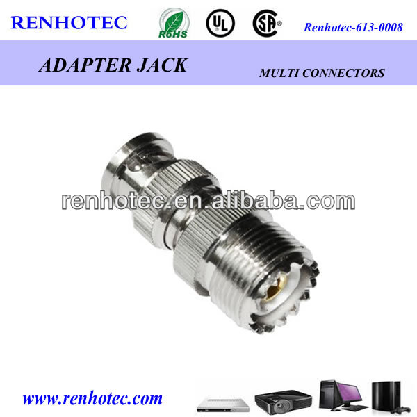 BNC plug to UHF jack adapter rf connector