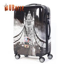 Popular abs hard shell soft handle travel luggage airport trolley case